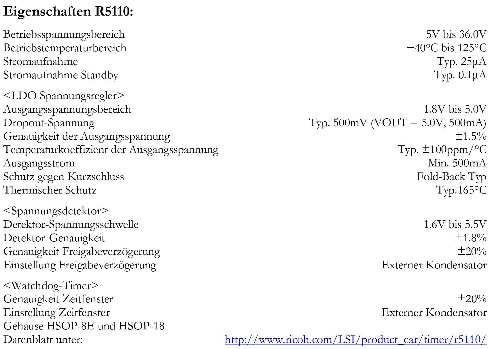 Ricoh Stellt Die Prozessor Ber Wachungs Serie R5110 Vor Ausge Watchdog Timer Circuit Eig De