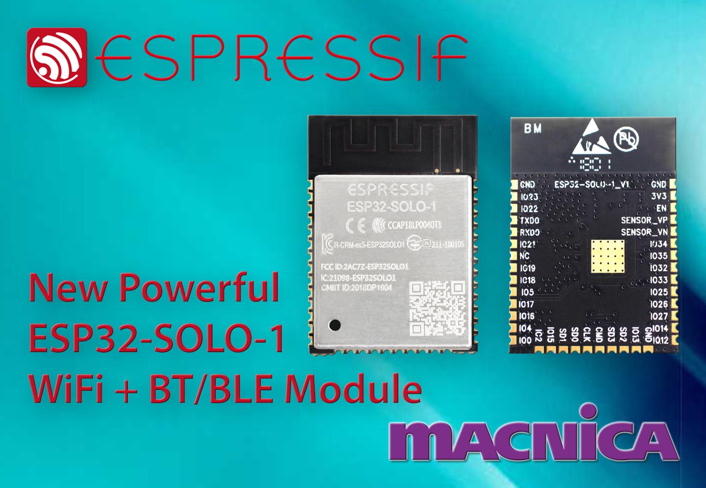 New Espressif Module ESP32-SOLO-1 | Macnica Europe GmbH